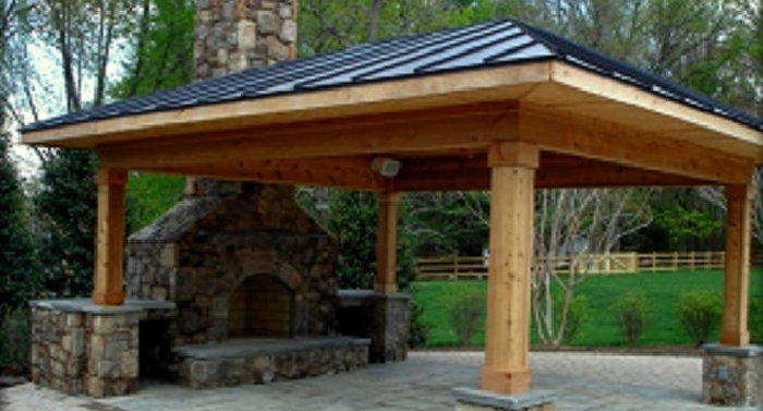 Outdoor Fireplace Gazeboo